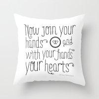 wedding Throw Pillows featuring Wedding by Liv Strawbridge