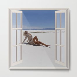 Blond in the Desert | OPEN WINDOW ART Metal Print
