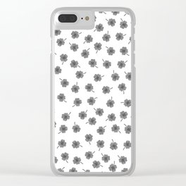 Light Gray Clover Clear iPhone Case