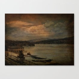 Changing Seasons at The Rondout Canvas Print