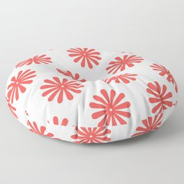 Daisy Print (poppy/cream) Floor Pillow