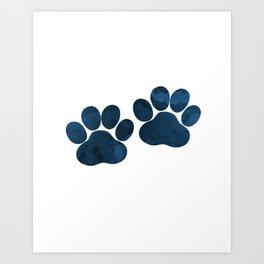 Dog Paw Prints Art Print