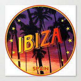 Ibiza, summer sunset, circle Canvas Print