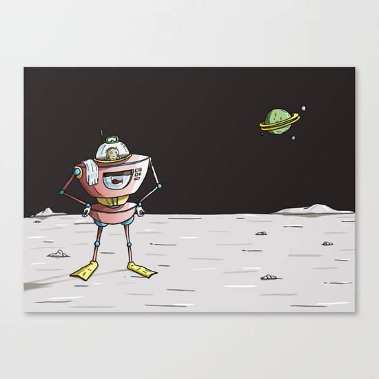 On the moon 3 Canvas Print