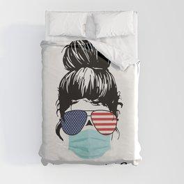 Nurse Life Proud American Cool Woman Duvet Cover