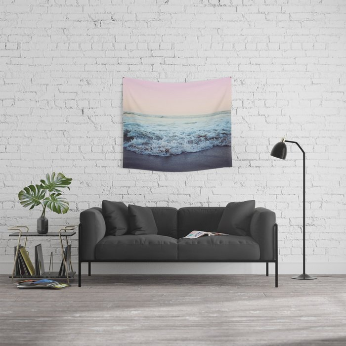 Crash Into Me Tapestry by Leah Flores Editions