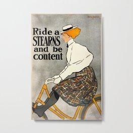 Vintage poster - Stearns Bicycles Metal Print