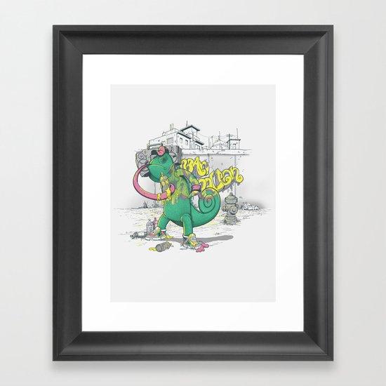 Urban Chameleon  Framed Art Print