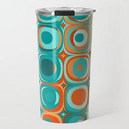 Orange and Turquoise Dots Travel Mug