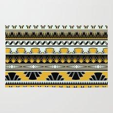 art deco stripes - honey Rug