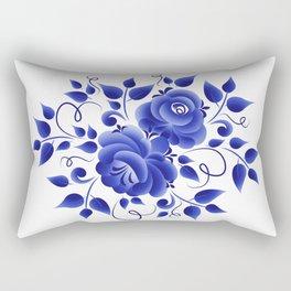 Blue roses gzhel Rectangular Pillow