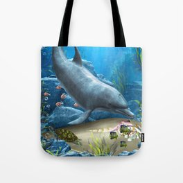 The World Of The Dolphin Tote Bag