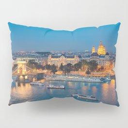 Blue hour on Danube Pillow Sham