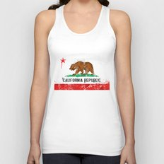 California Flag Unisex Tank Top