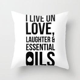 CUTE PRETTY ESSENTIAL OIL DIFFUSER designS - LIVE LOVE Throw Pillow
