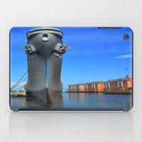 wisconsin iPad Cases featuring Battleship Wisconsin by Raymond Earley