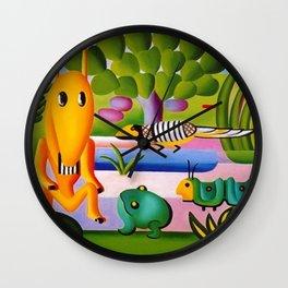 Classical Masterpiece 'A Cuca' by Tarsila do Amaral Wall Clock