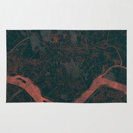 Seoul Map Red Rug