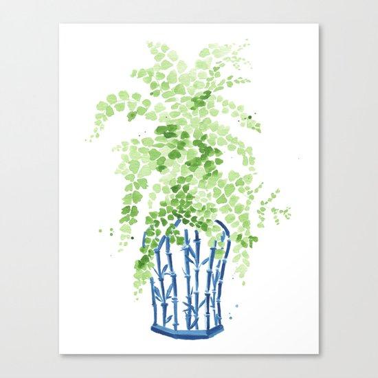 Ginger Jar + Maidenhair Fern Canvas Print