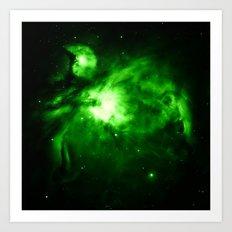 Orion NEBUla : Green Art Print