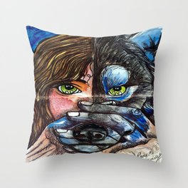 sprit totem Throw Pillow