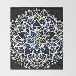 Radiant Zen Glowing Mandala Throw Blanket