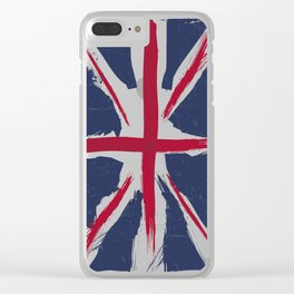 United Kingdom Flag Clear iPhone Case