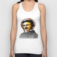 tesla Tank Tops featuring Tesla by EclipseLio