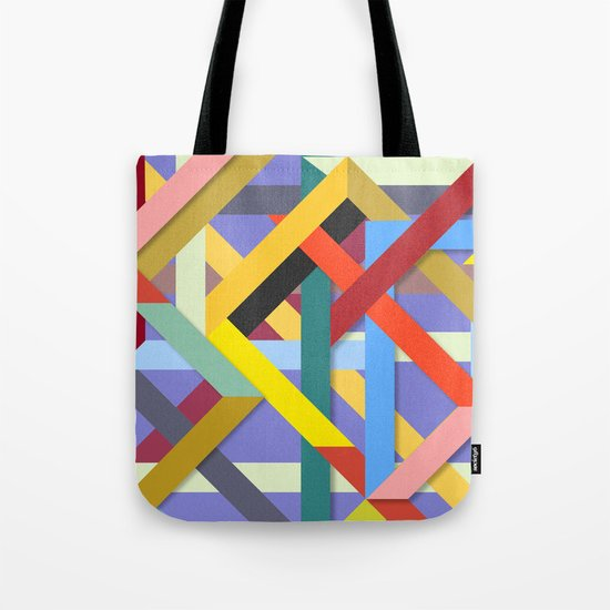 Abstract #225 Corners, Intersections & Dead Ends Tote Bag