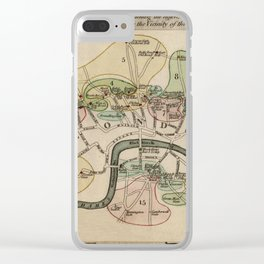 Map of London Toll Gates 1790 Clear iPhone Case