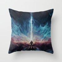 interstellar Throw Pillows featuring Interstellar by jasric