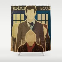 doctor Shower Curtains featuring Day of the Doctor by Danny Haas