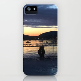 manset maine town dock iPhone Case