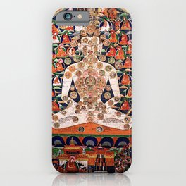 Buddhist Body Mandala Chakra  iPhone Case