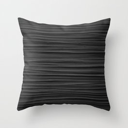 Black Smooth Texture (Black and White) Throw Pillow