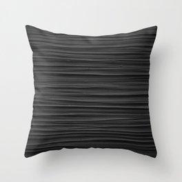 Black Smooth Texture (Black and White) Throw Pillow