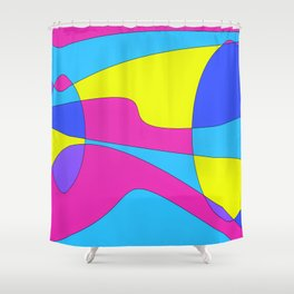 Colors in Sound Neon Shower Curtain