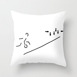 bowl skittle-alley bowling Throw Pillow