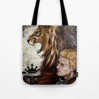 "dragon age inquisition Tote Bags featuring Dragon Age Inquisition - Cullen - Fortitude by Barbara ""Yuhime"" Wyrowińska"