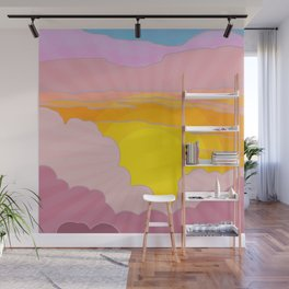 Sixties Inspired Psychedelic Sunrise Surprise Wall Mural