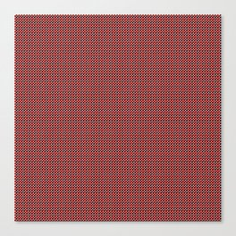 black and red block pattern Canvas Print