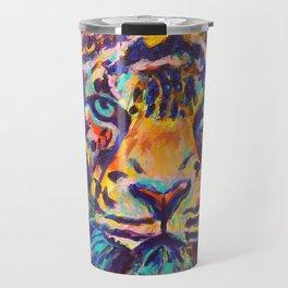 Turquoise-Eyed Tiger Travel Mug