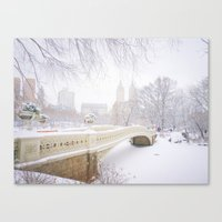 central park Canvas Prints featuring Central Park by Vivienne Gucwa