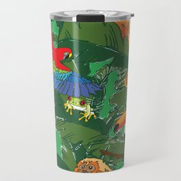 Rainforest Animals Botanical Repeat 2 Travel Mug