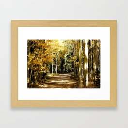 Kenosha Pass Fall Colors Framed Art Print