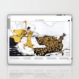 The Awakening - Women's Suffrage Illustration, 1915 Laptop & iPad Skin