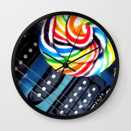 Lollipop Guitar Wall Clock