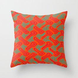 Pattern sqaure spiral Throw Pillow