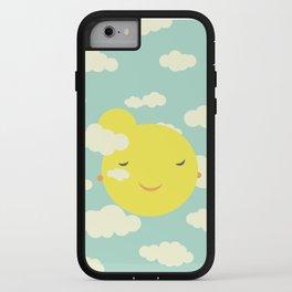 sunshine in clouds iPhone Case