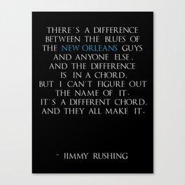 Jimmy Rushing Canvas Print